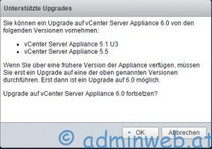 Upgrade vCenter 6.0 - 2