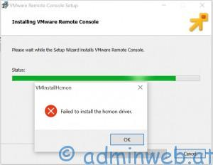 VMware Remote Console hcmon Error