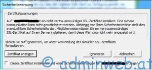 VMware vSphere Client Zertifikat Warnung