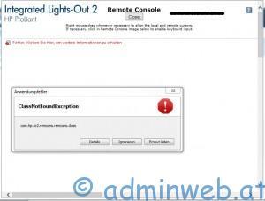 HP ILO 2 Java Error - 1
