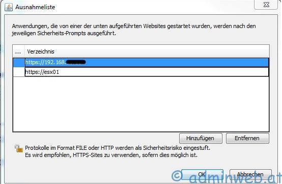 HP ILO2: Java Remote Console lässt sich nicht starten bzw  ausführen