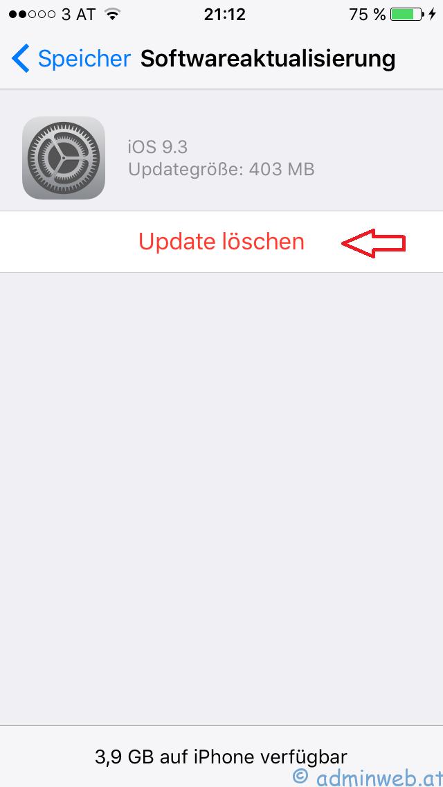 Iphone Software Update Löschen