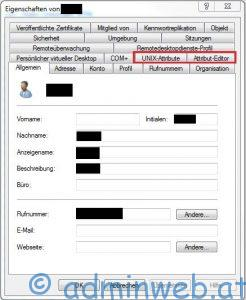 ADUC Objekteigenschaften - Fehlende Registerkarten