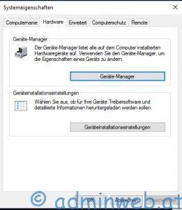 Microsoft Windows 10 Erweiterte Systemeinstellungen