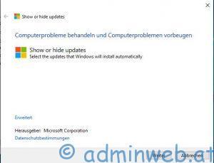 Microsoft Windows 10 automatische Treiberinstallation unterbinden 1